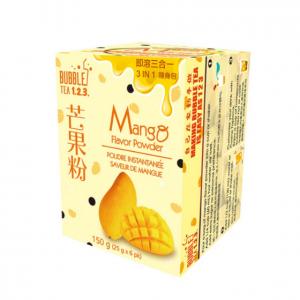 台湾Bubble Tea 123 速溶三合一奶茶粉 芒果味 随身包 150克