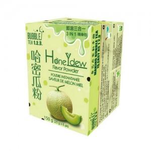 台湾Bubble Tea 123 速溶三合一奶茶粉 哈密瓜味 随身包 150克