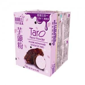 台湾Bubble Tea 123 速溶三合一奶茶粉 芋头味 随身包 150克